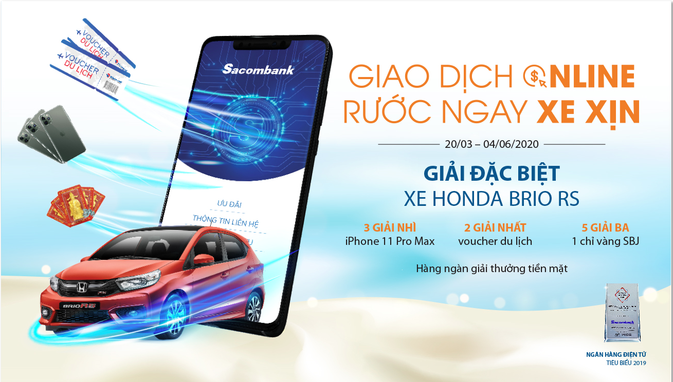 giao dich online ruoc ngay xe xin vo i sacombank