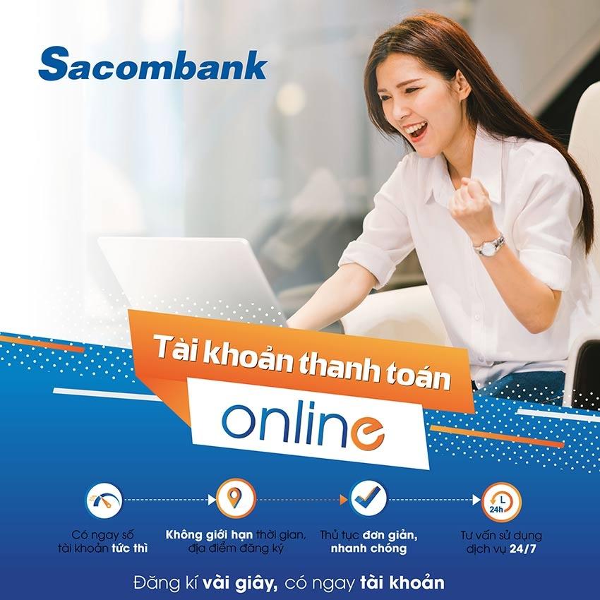 tim hieu ve mo the online tai sacombank