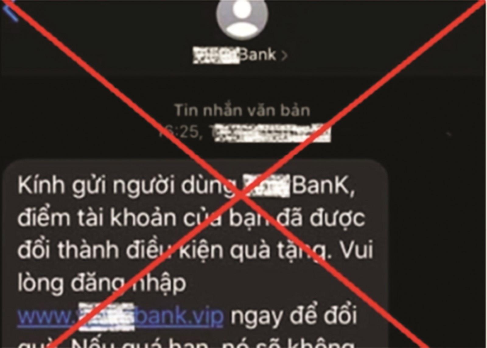 """Cẩn trọng với tin nhắn """"giả ngân hàng"""""""