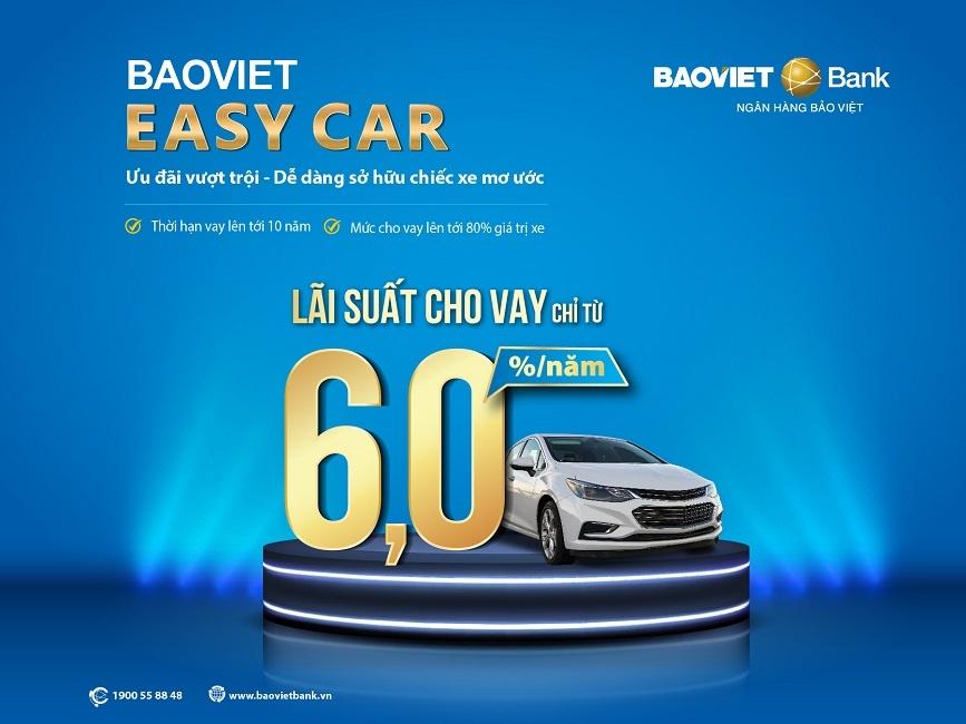 BAOVIET Bank đẩy mạnh cho vay mua ô tô với lãi suất hấp dẫn