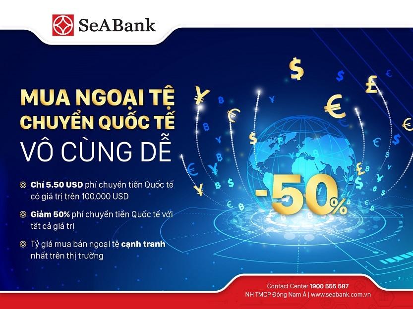 SeABank ưu đãi hấp dẫn cho khách hàng chuyển tiền quốc tế