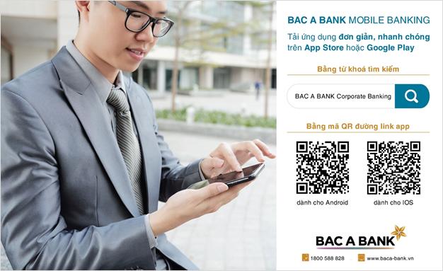 bac a bank ra mat mobile banking danh cho khach hang doanh nghiep
