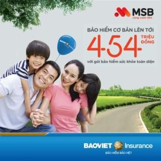 Ưu đãi cộng lãi suất tiết kiệm tới 0,4% từ kết hợp giữa Bảo hiểm Bảo Việt và MSB