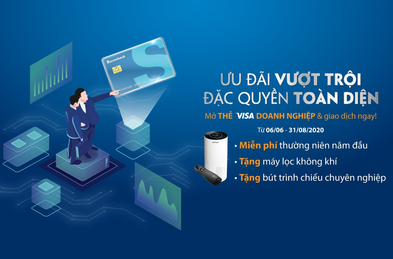 Sacombank dành nhiều đặc quyền cho chủ thẻ doanh nghiệp