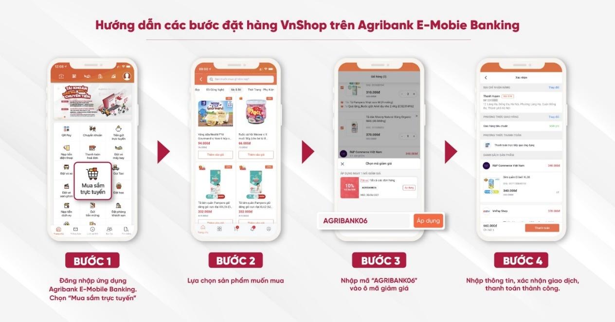 sieu uu dai thang 6 khi su dung ung dung agribank e mobile banking
