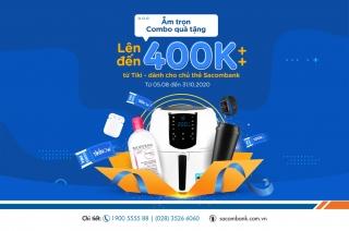 Sacombank ưu đãi cho khách hàng khi mua sắm trên Tiki