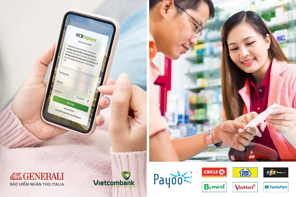 Generali nâng cao trải nghiệm thanh toán phí cho khách hàng qua VCB Digibank và hơn 7.000 cửa hàng, siêu thị