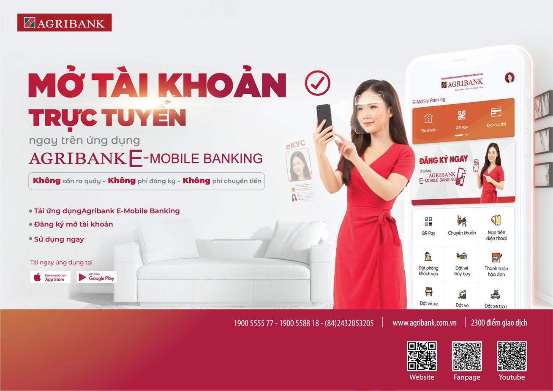 Agribank ra mắt dịch vụ mở tài khoản trực tuyến, thúc đẩy giao dịch online mùa dịch