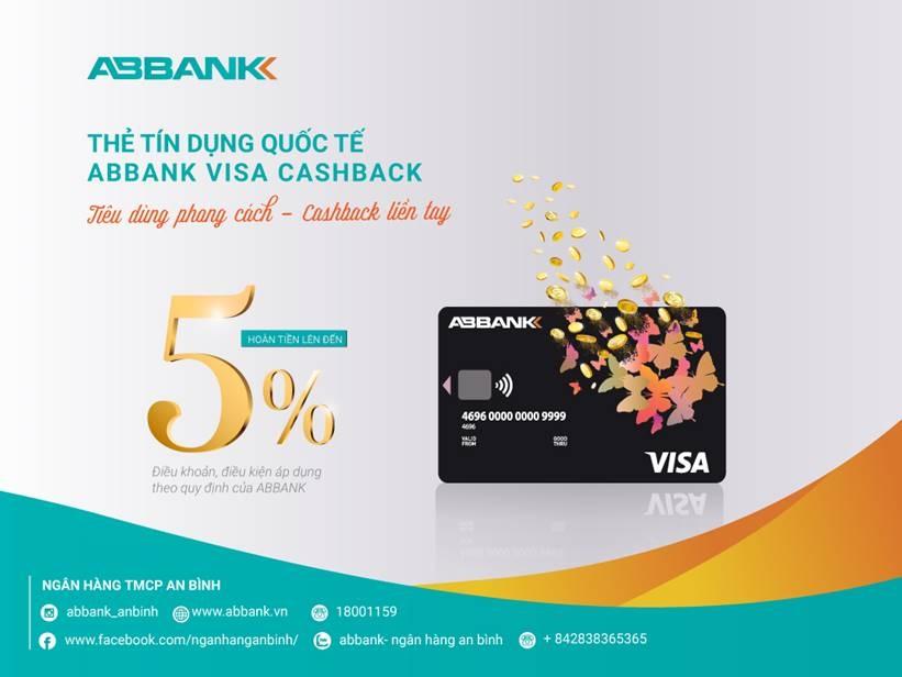 Hoàn tiền đến 5% với thẻ Visa Cashback của ABBANK