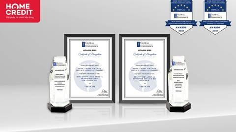 Home Credit nhận hai giải thưởng quốc tế: Công ty tài chính tốt nhất và Tiên phong chuyển đổi số
