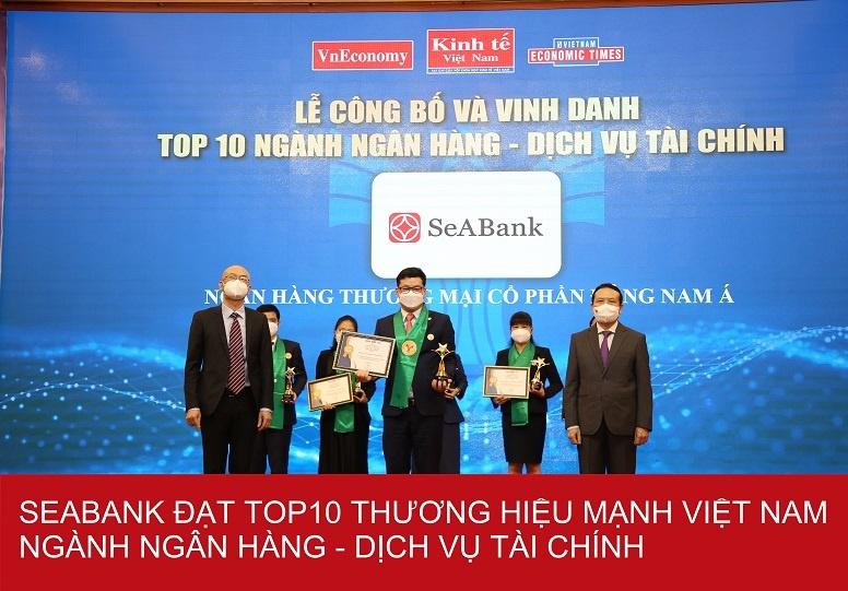 SeABank - Top 25 Thương hiệu tài chính dẫn đầu Việt Nam 2021