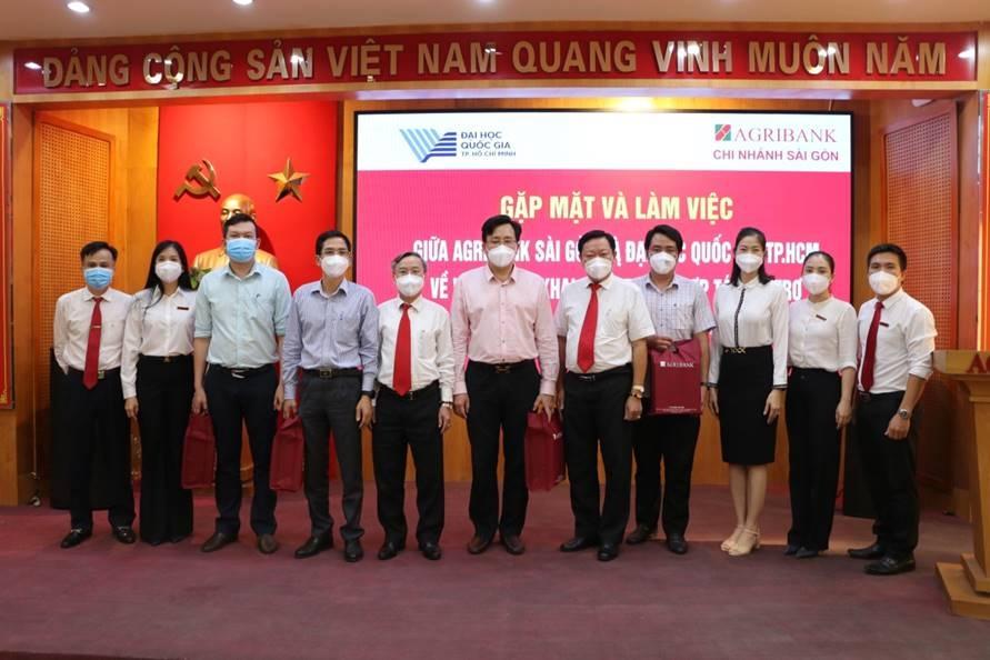 Agribank Chi nhánh Sài Gòn và Đại học Quốc gia TP.HCM hợp tác toàn diện