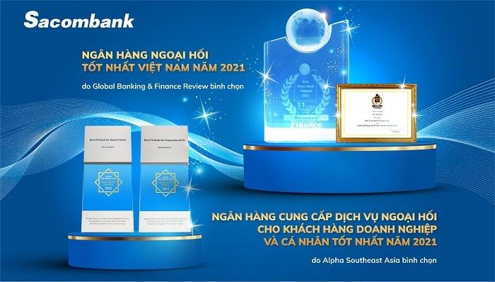 Sacombank tiếp tục là ngân hàng cung cấp dịch vụ ngoại hối tốt nhất năm 2021