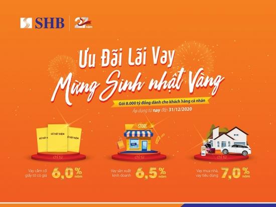 Sinh nhật 27 tuổi: SHB tung gói tín dụng cá nhân 8.000 tỷ đồng với lãi suất ưu đãi
