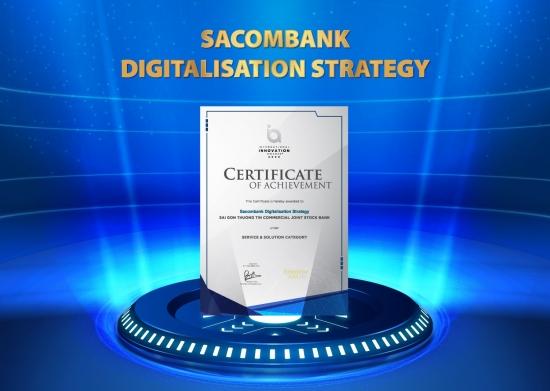 Sacombank đạt giải thưởng về chiến lược chuyển đổi số