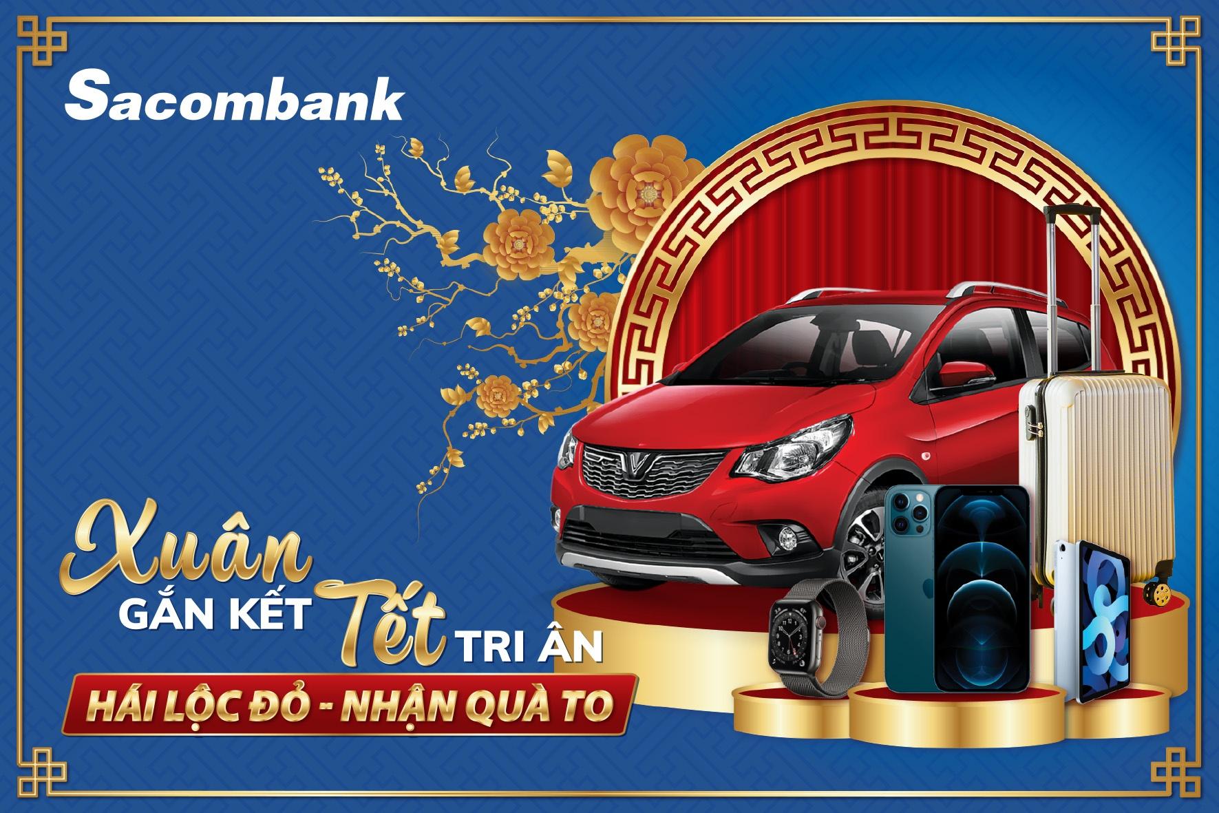 """Sacombank tặng khách hàng 8 xe ô tô trong chương trình """"Xuân gắn kết - Tết tri ân"""""""