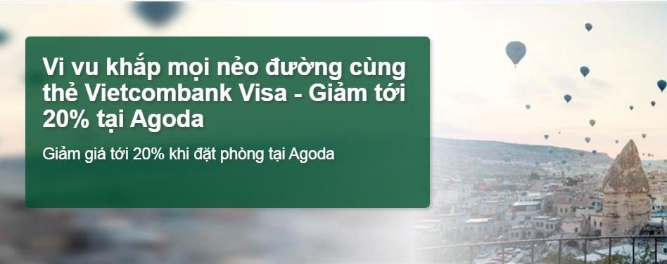 the vietcombank visa duoc giam 20 tai agoda