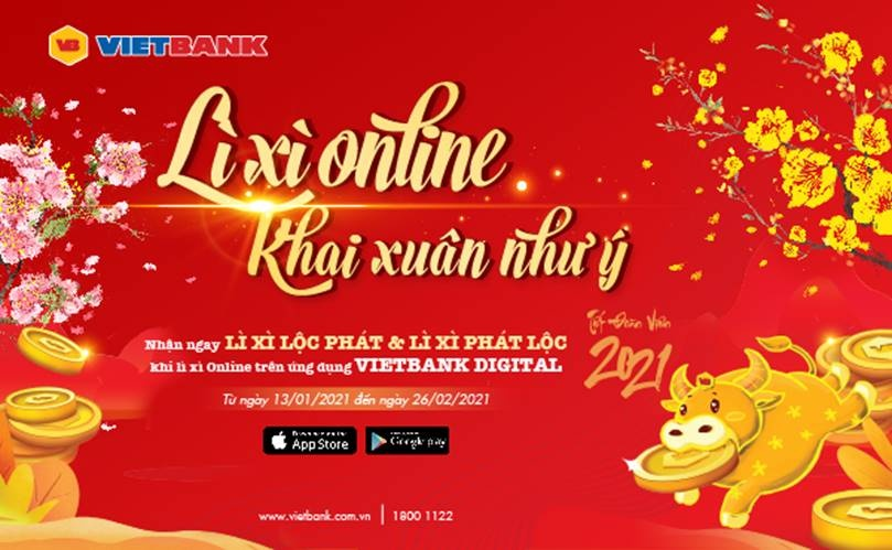 li xi online khai xuan nhu y cung mobile vietbank digital