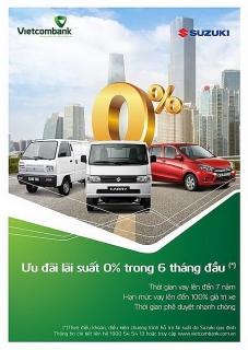 Vay mua ô tô Suzuki với lãi suất 0% trong 6 tháng đầu tại Vietcombank