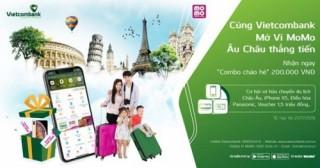 Cùng Vietcombank mở Ví MoMo - Âu Châu thẳng tiến