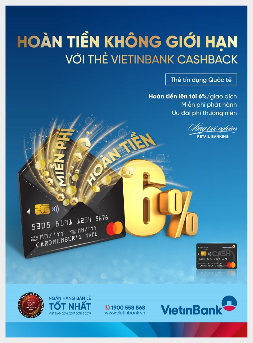 hoan tien khong gioi han cung the vietinbank cashback