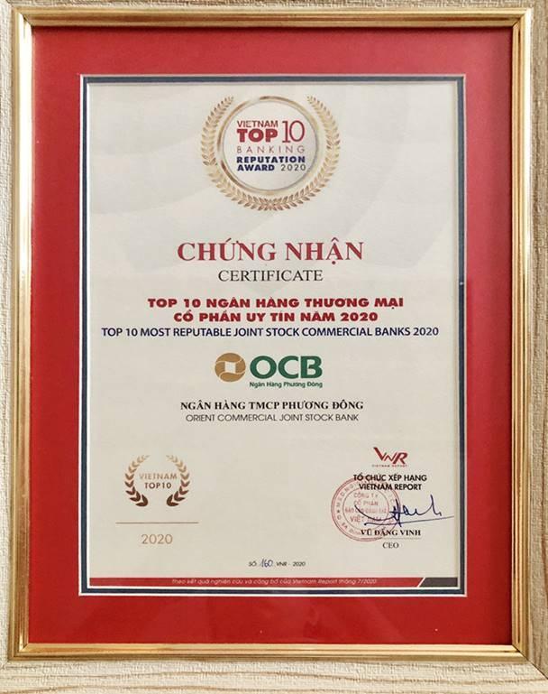 OCB được vinh danh trong bảng xếp hạng Fast 500 và Top 10 ngân hàng