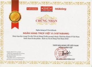 Dịch vụ ngân hàng số của VietABank được vinh danh
