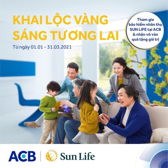 Chương trình khuyến mại cùng hàng nghìn quà tặng hấp dẫn từ Sun Life Việt Nam qua kênh phân phối ACB