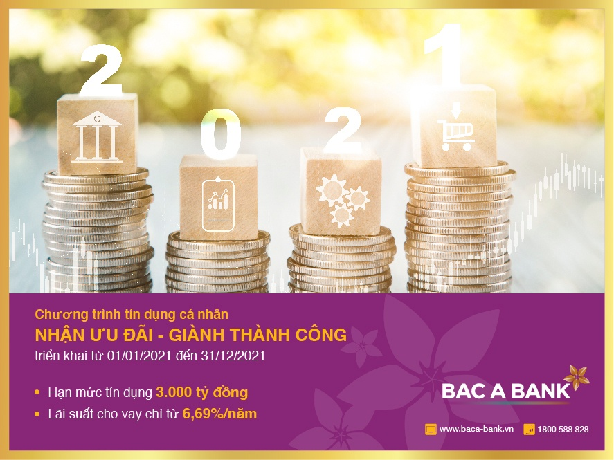Nhận ưu đãi tín dụng từ BAC A BANK, khách hàng sẵn sàng đón thành công