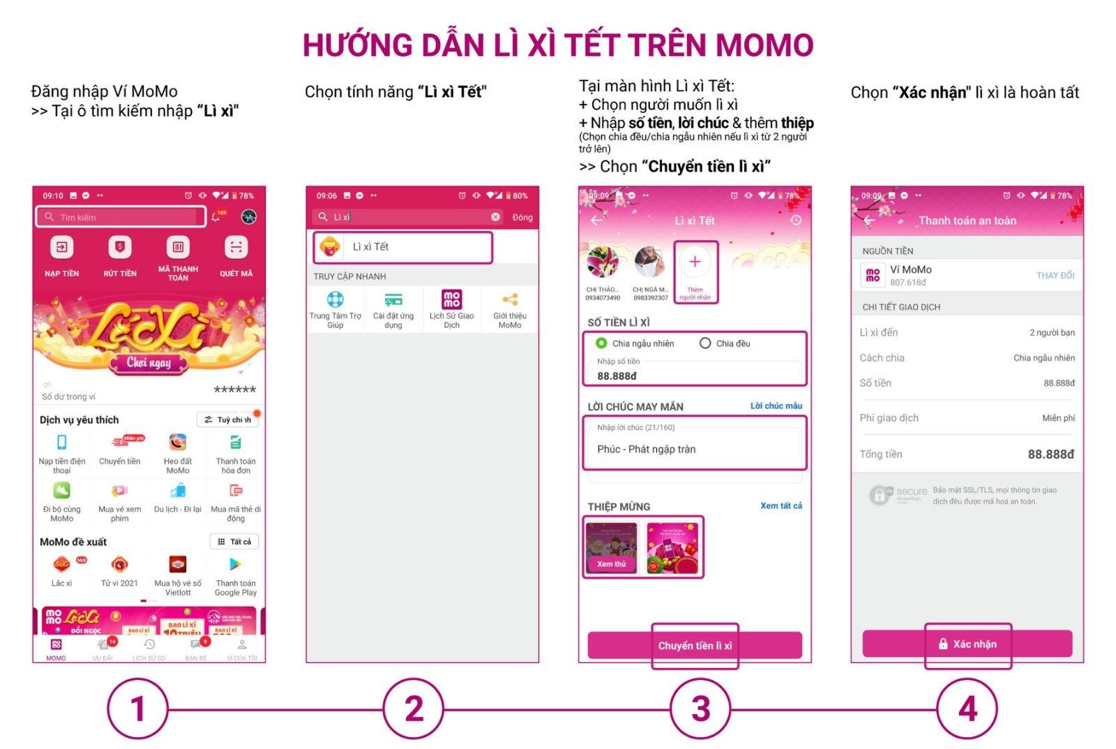 li xi online co so loc phat than tai