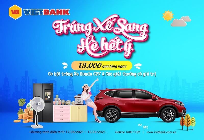 Gửi tiết kiệm tại Vietbank, cơ hội trúng ô tô Honda CRV 1.5 E
