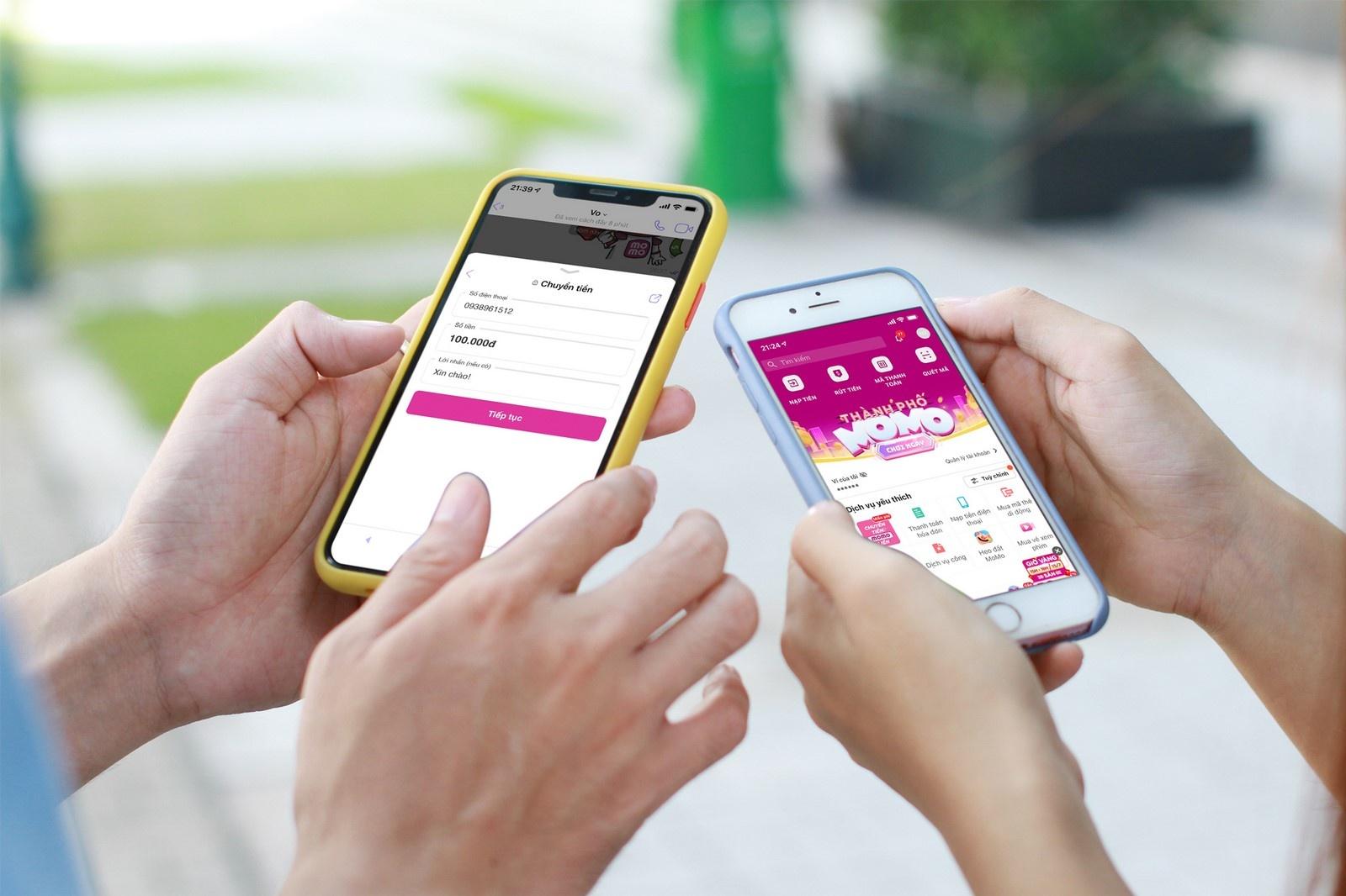 Người dùng MoMo chuyển tiền được qua Viber