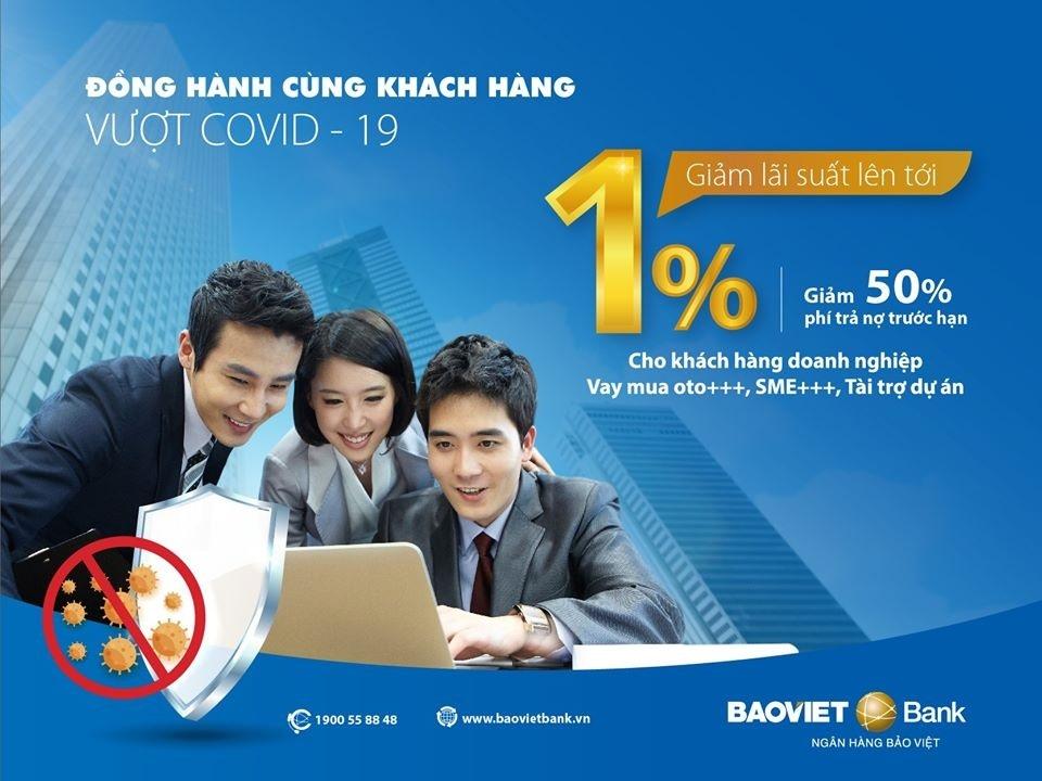 BAOVIET Bank đồng hành cùng khách hàng vượt Covid-19