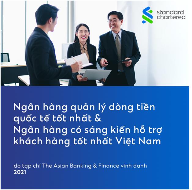 standard chartered vietnam nhan hai giai thuong cua the asian banking finance