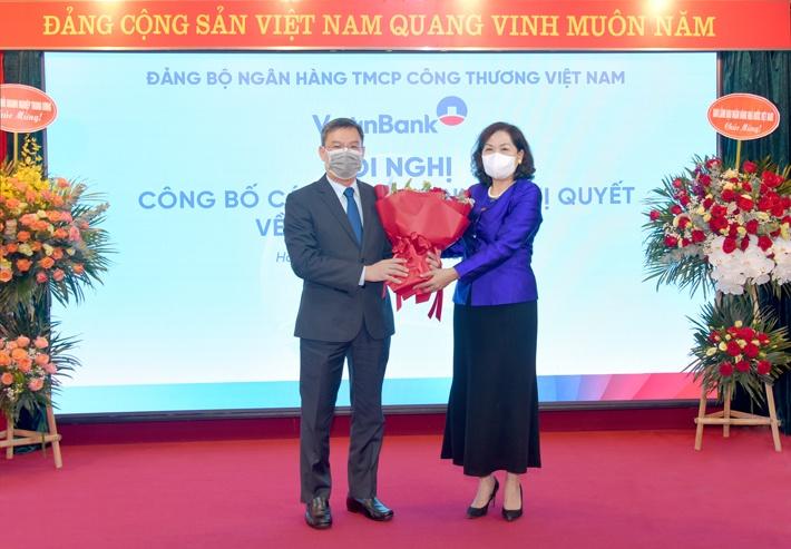 VietinBank kiện toàn chức danh Bí thư Đảng ủy, Chủ tịch HĐQT, Phó Tổng Giám đốc phụ trách Ban Điều hành