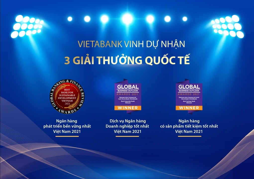 vietabank lien tiep don nhan giai thuong quoc te uy tin