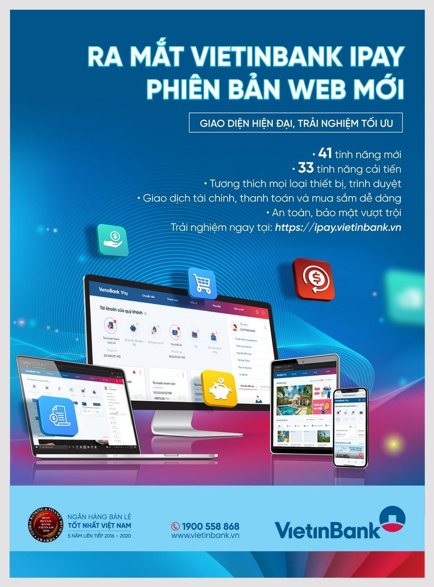 Trải nghiệm hoàn hảo với VietinBank iPay phiên bản Web mới