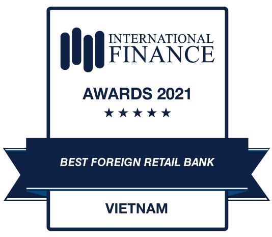 Standard Chartered nhận giải thưởng Ngân hàng bán lẻ nước ngoài tốt nhất Việt Nam