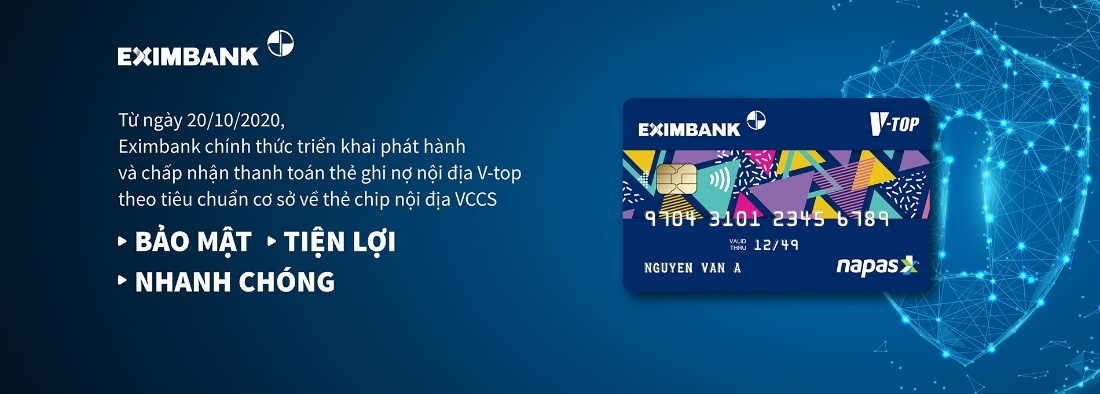 eximbank phat hanh the ghi no noi dia chip vccs