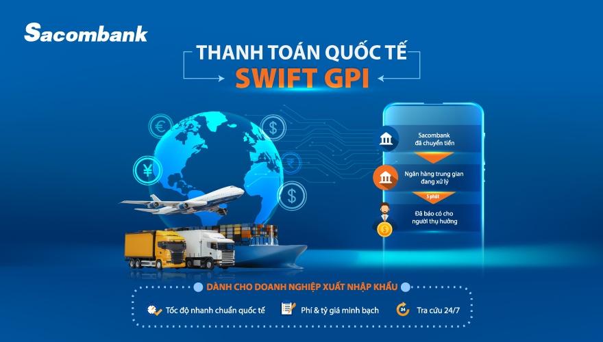 Tính năng tra cứu giao dịch thanh toán quốc tế qua SWIFT GPI mới của Sacombank