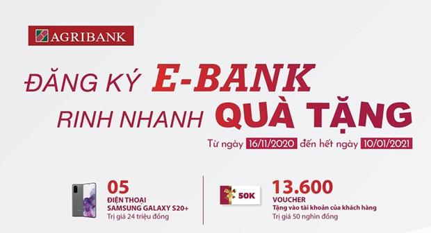 Đăng ký E-Bank tại Agribank để rinh quà tặng