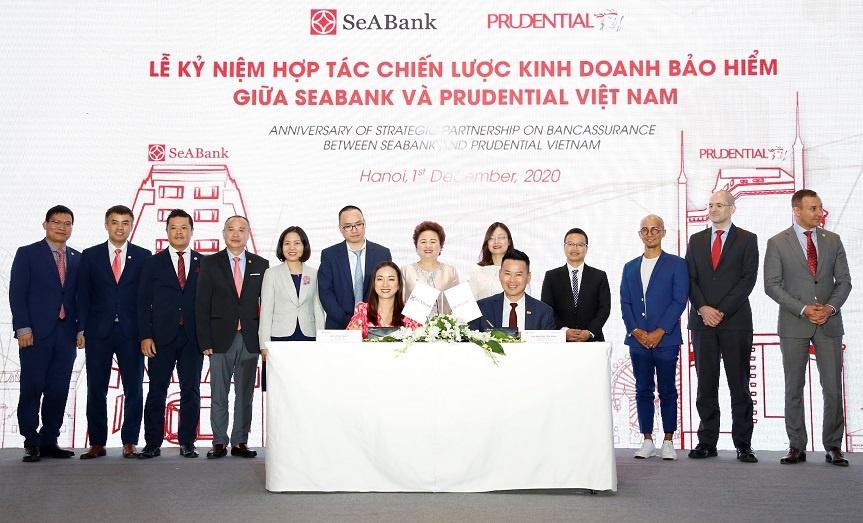 Prudential Việt Nam và SeABank thúc đẩy hợp tác phân phối sản phẩm bảo hiểm trên nền tảng kỹ thuật số