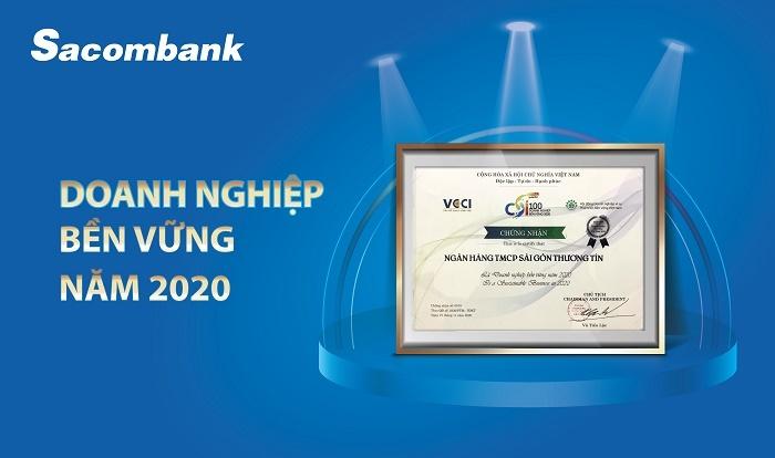 sacombank duoc vinh danh la doanh nghiep ben vung nam 2020