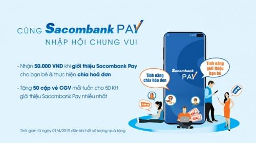 Chia hóa đơn với ứng dụng Sacombank Pay