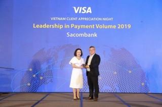 Thẻ Sacombank Visa dẫn đầu thị trường Việt Nam năm 2019