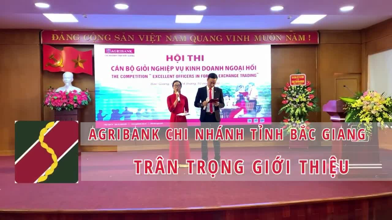 Agribank CN Bắc Giang: Hội thi cán bộ giỏi nghiệp vụ Kinh doanh Ngoại hối